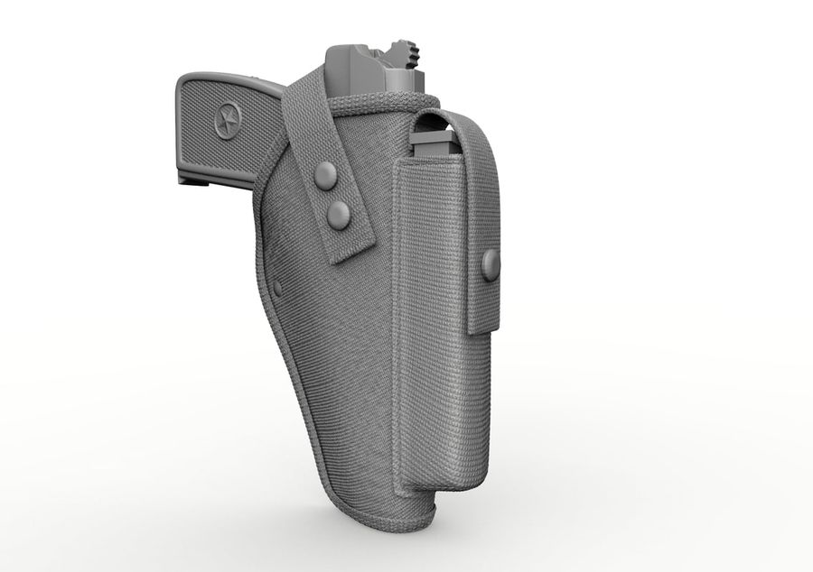 Holster royalty-free 3d model - Preview no. 25