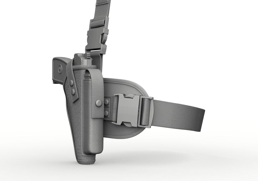 Holster royalty-free 3d model - Preview no. 23