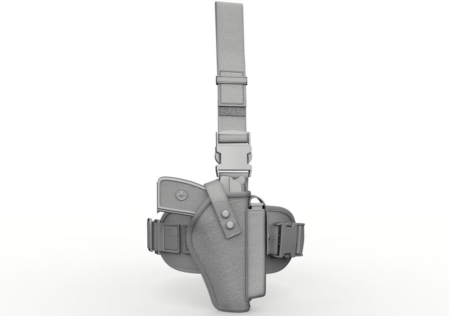 Holster royalty-free 3d model - Preview no. 9