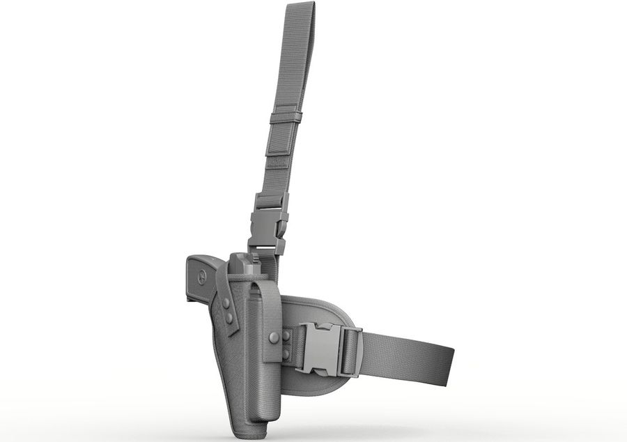 Holster royalty-free 3d model - Preview no. 4