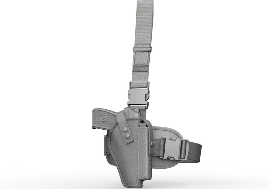 Fondina royalty-free 3d model - Preview no. 6