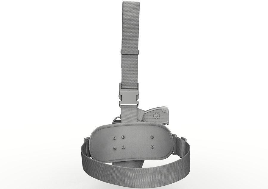 Holster royalty-free 3d model - Preview no. 17