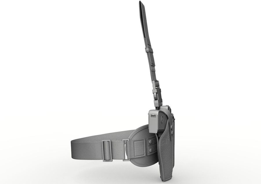 Holster royalty-free 3d model - Preview no. 12