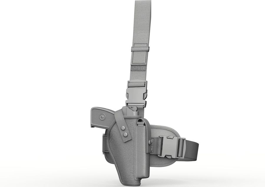 Holster royalty-free 3d model - Preview no. 6