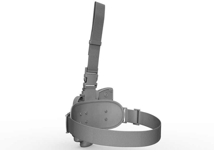 Holster royalty-free 3d model - Preview no. 18