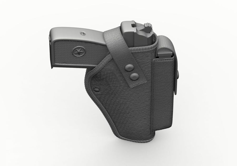 Holster royalty-free 3d model - Preview no. 34