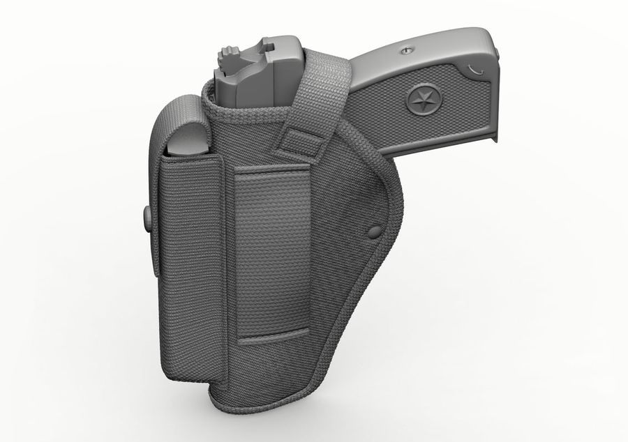 Holster royalty-free 3d model - Preview no. 33