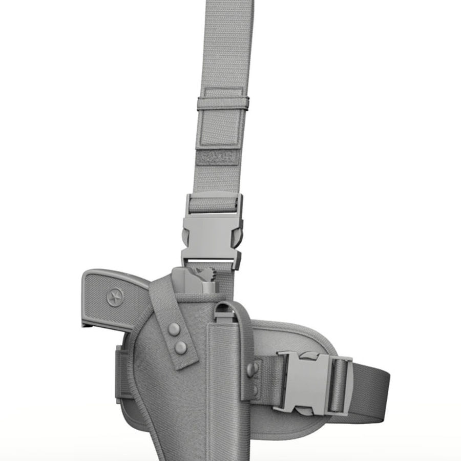 Holster royalty-free 3d model - Preview no. 1