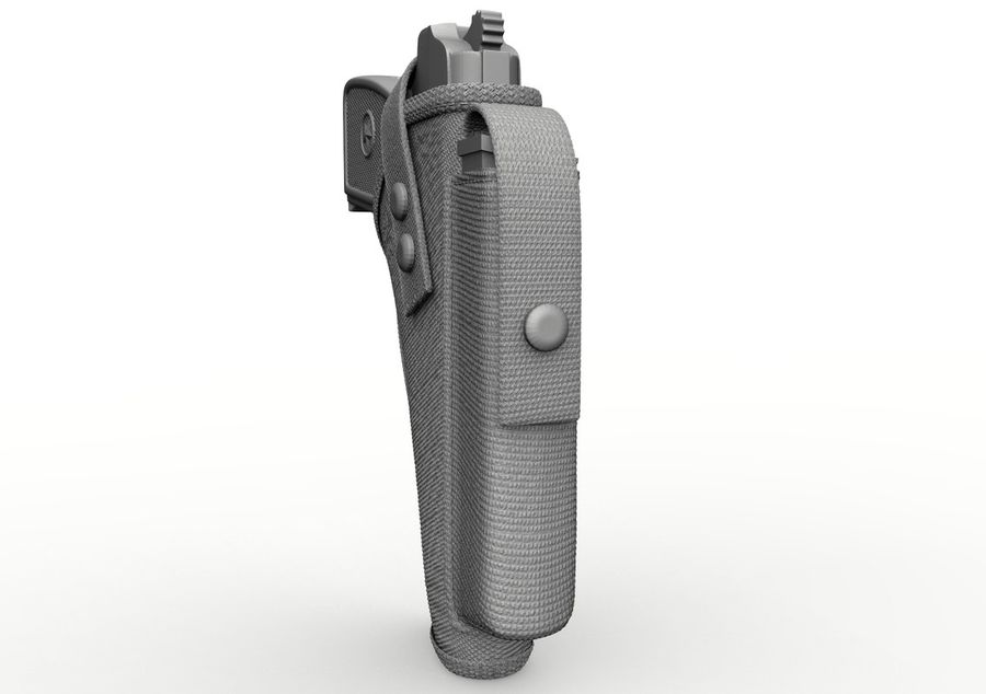 Holster royalty-free 3d model - Preview no. 26