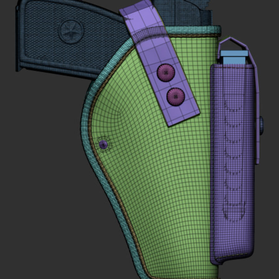Holster royalty-free 3d model - Preview no. 37