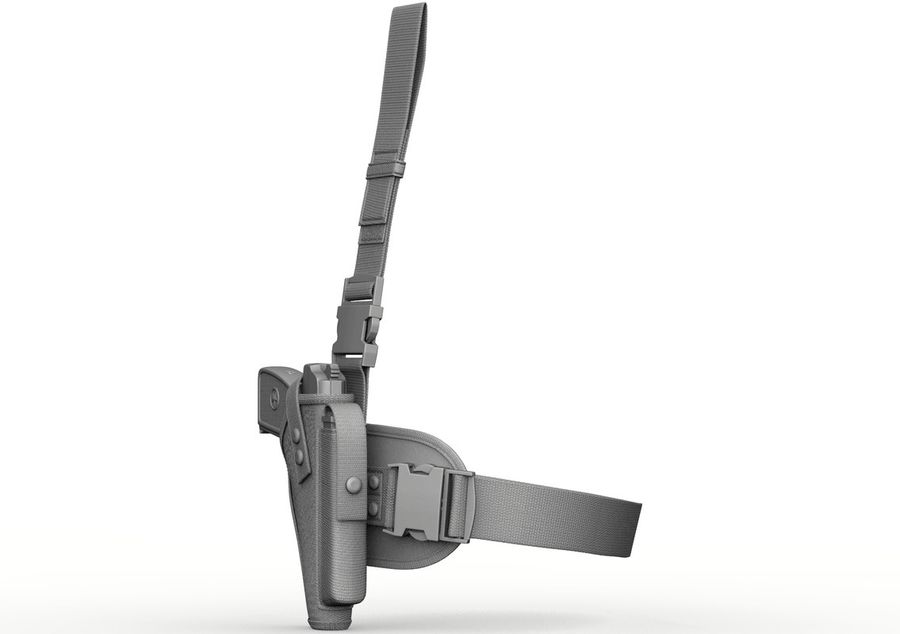Holster royalty-free 3d model - Preview no. 3