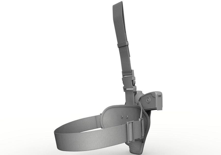 Holster royalty-free 3d model - Preview no. 15