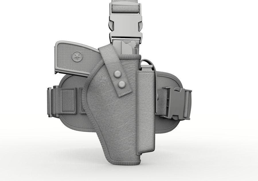 Holster royalty-free 3d model - Preview no. 22