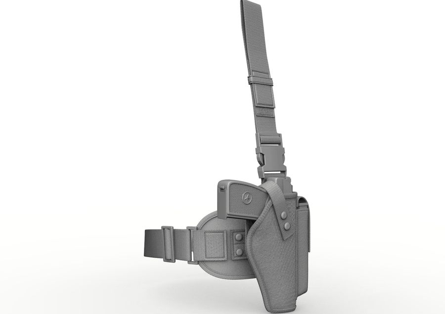 Holster royalty-free 3d model - Preview no. 11