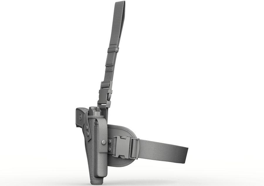 Fondina royalty-free 3d model - Preview no. 3