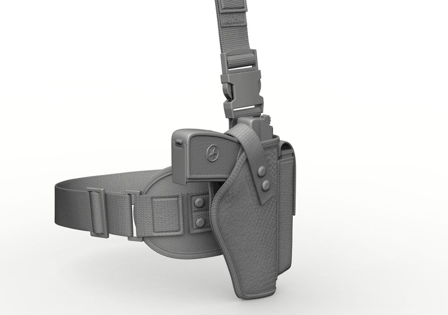 Holster royalty-free 3d model - Preview no. 24