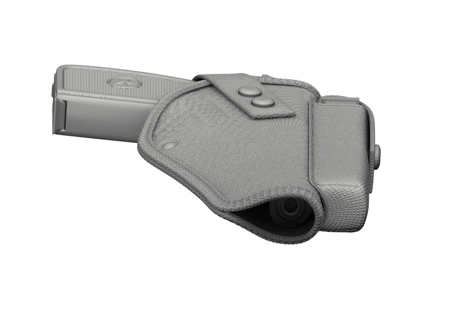 Holster royalty-free 3d model - Preview no. 35