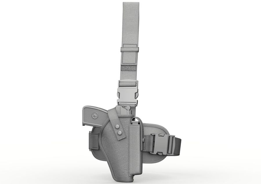 Holster royalty-free 3d model - Preview no. 7