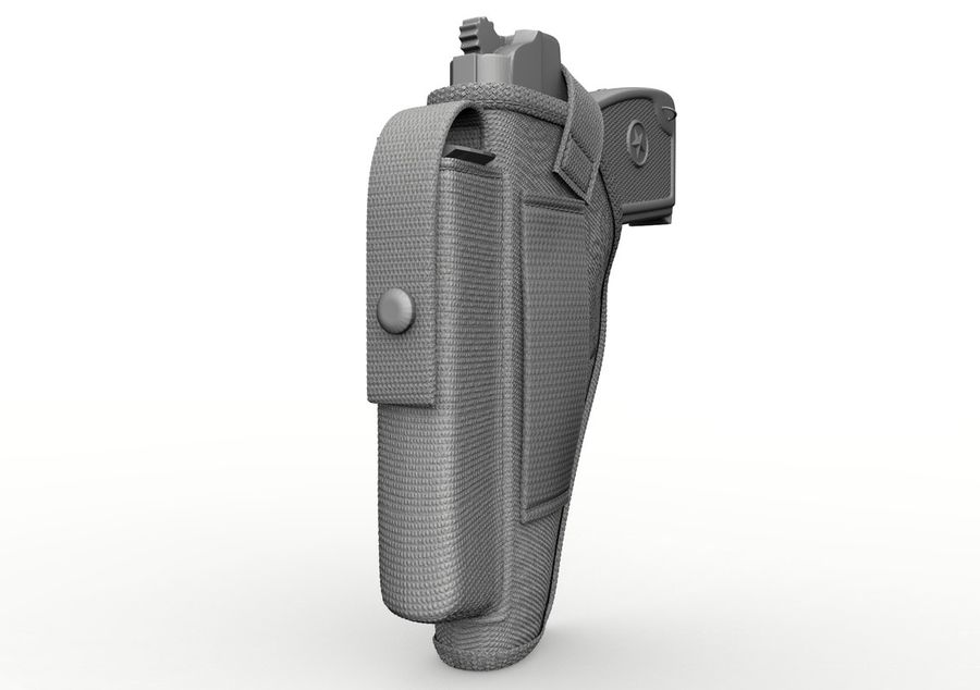 Holster royalty-free 3d model - Preview no. 28