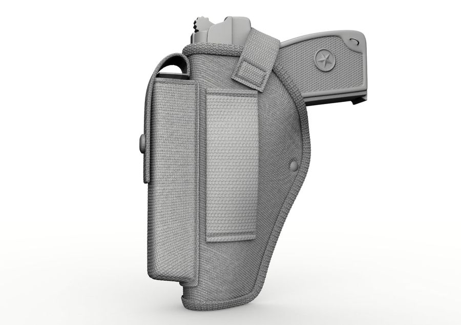 Holster royalty-free 3d model - Preview no. 29