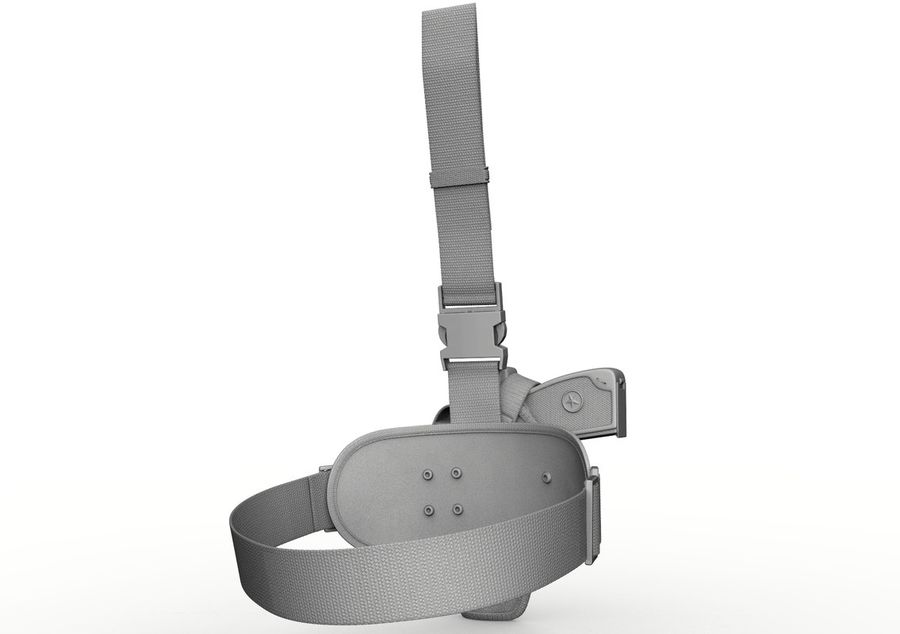 Holster royalty-free 3d model - Preview no. 16