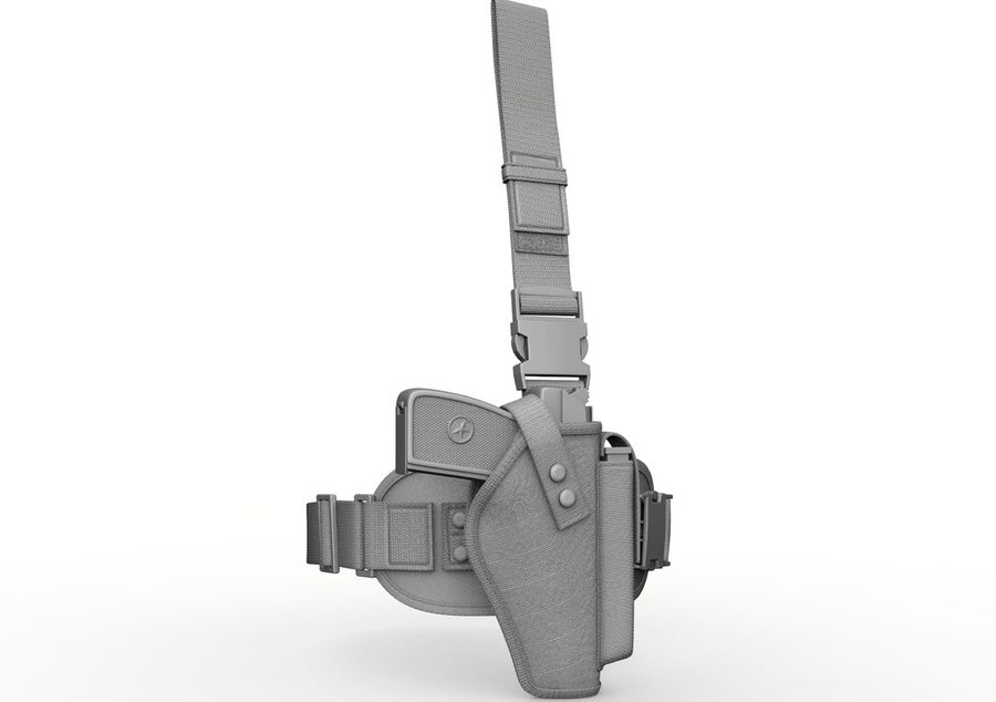 Holster royalty-free 3d model - Preview no. 10