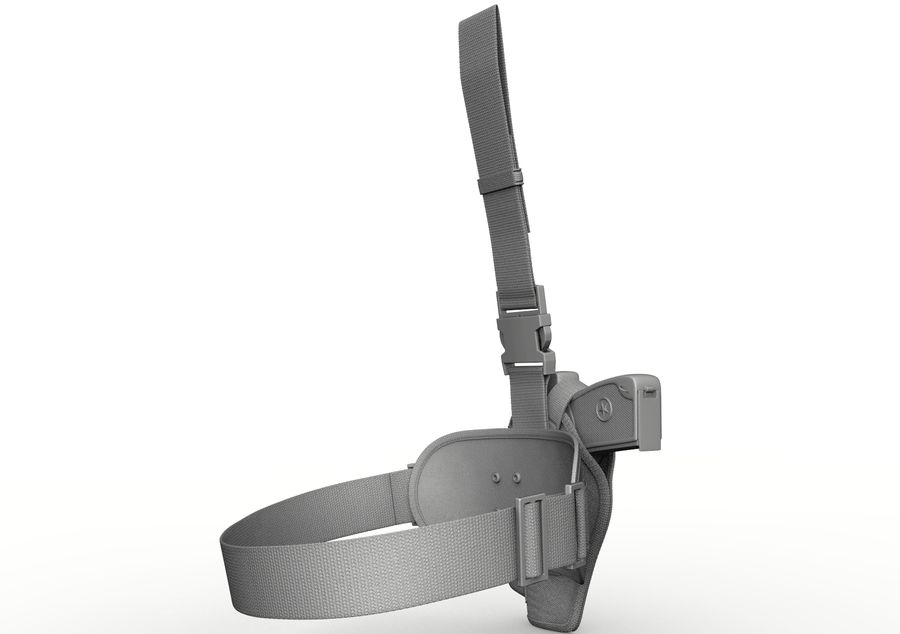 Fondina royalty-free 3d model - Preview no. 15