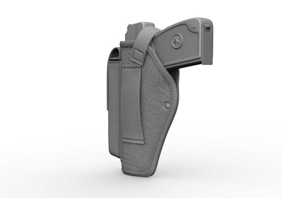 Holster royalty-free 3d model - Preview no. 30