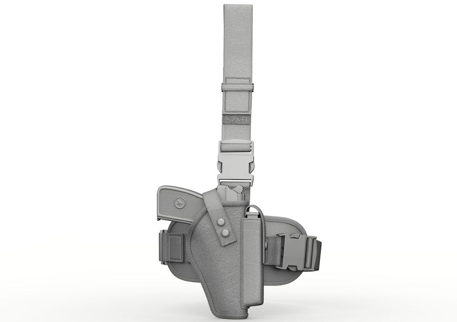 Holster royalty-free 3d model - Preview no. 8