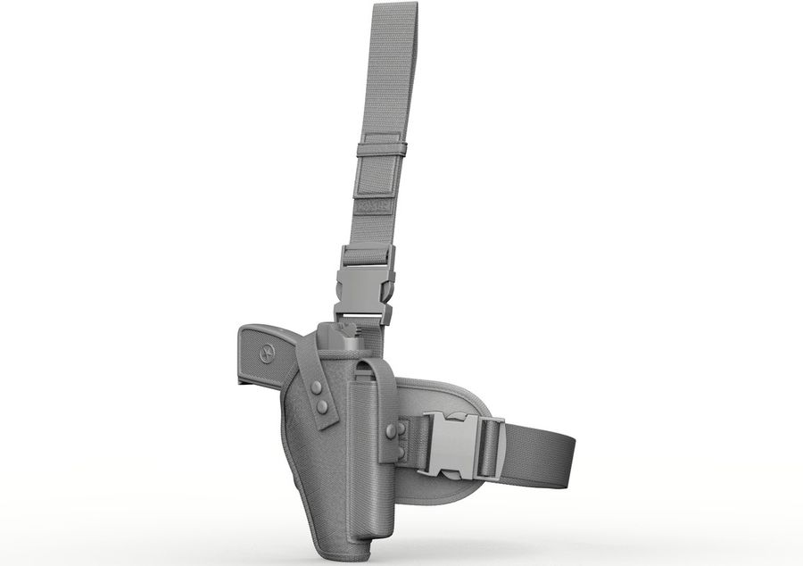 Holster royalty-free 3d model - Preview no. 5