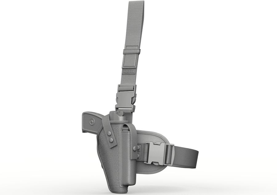 Fondina royalty-free 3d model - Preview no. 5