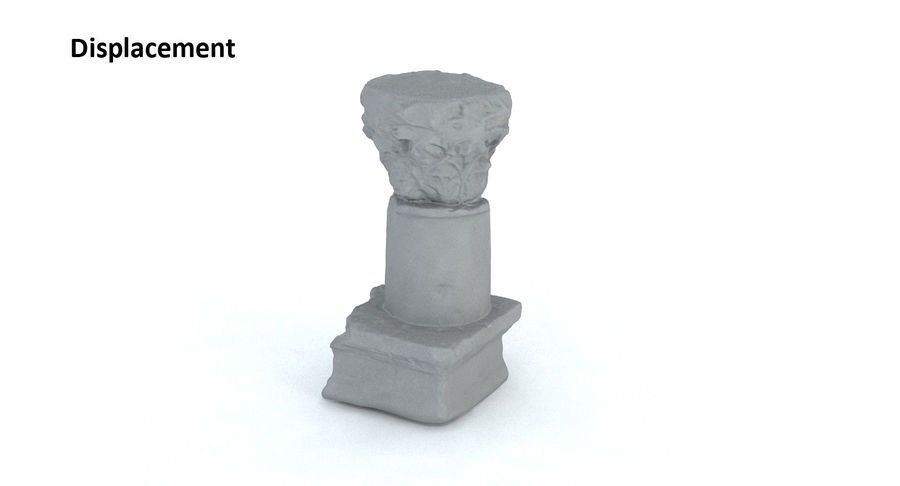 Ancient Column royalty-free 3d model - Preview no. 14