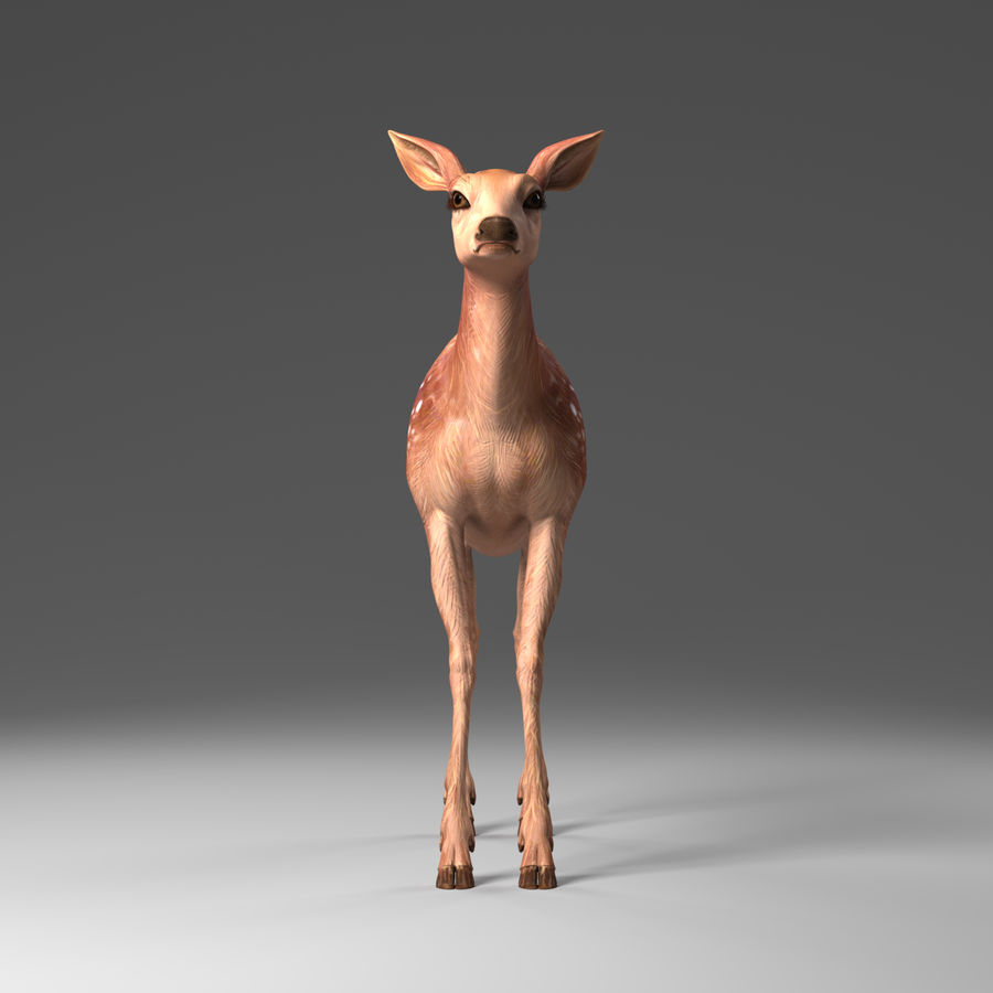 Hirsche royalty-free 3d model - Preview no. 2