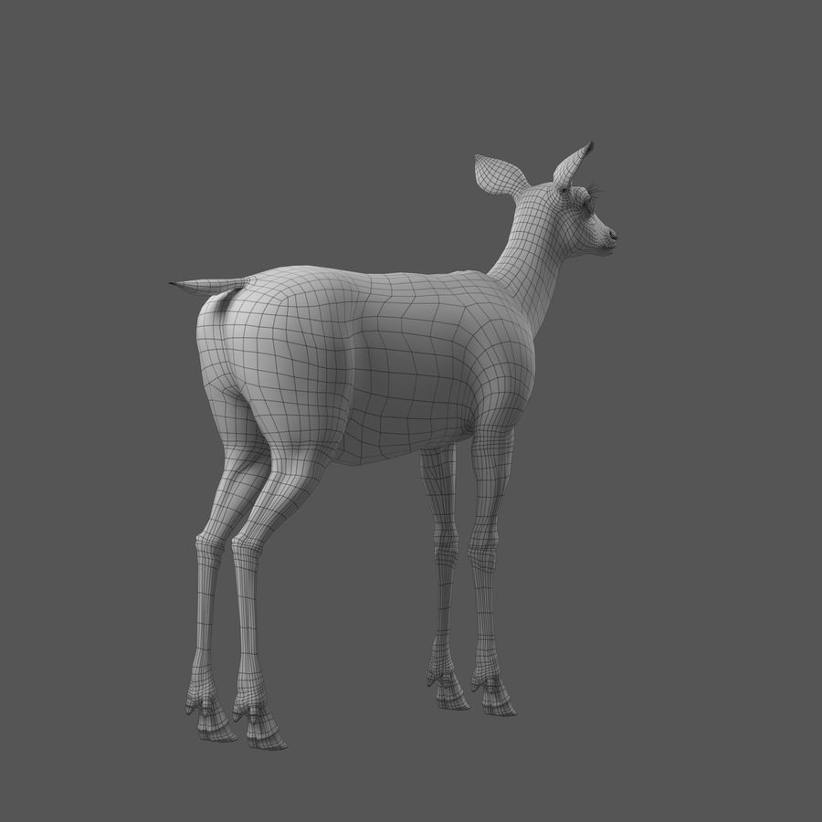 Hirsche royalty-free 3d model - Preview no. 9