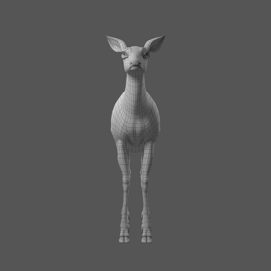 Hirsche royalty-free 3d model - Preview no. 6