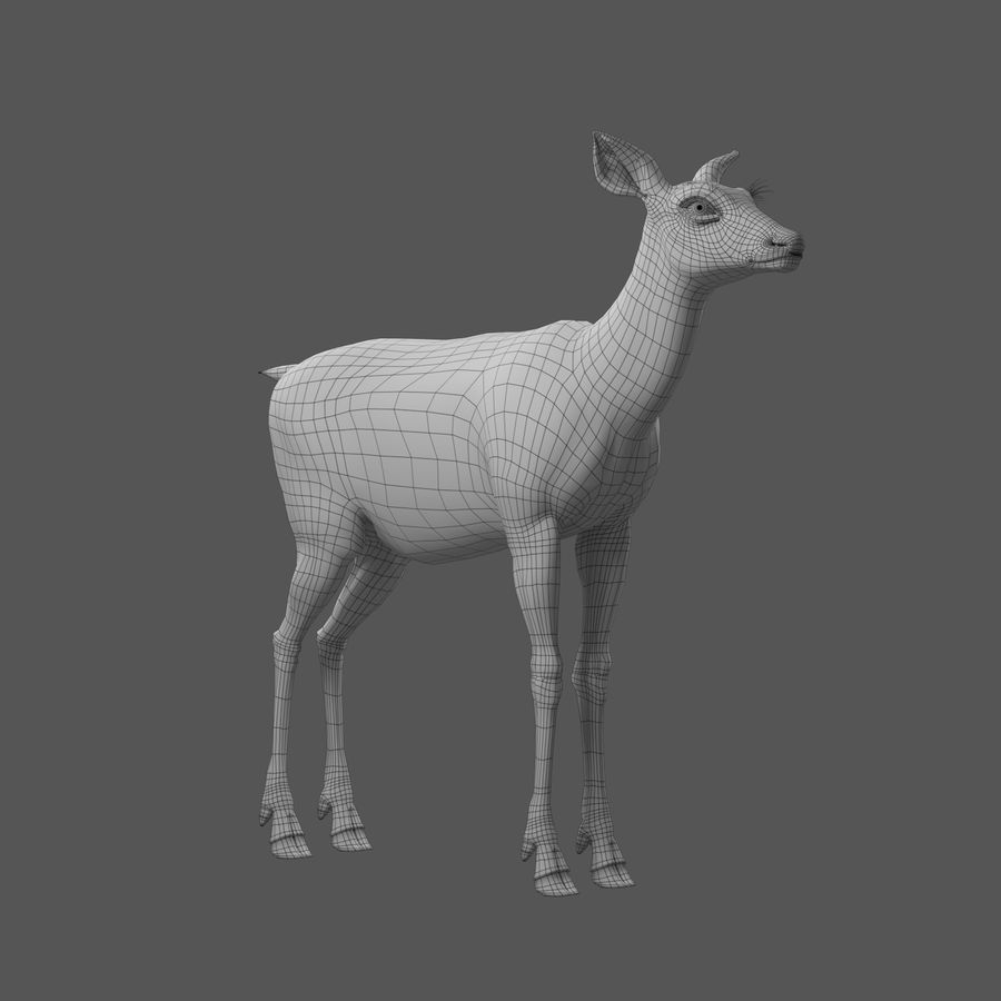 Hirsche royalty-free 3d model - Preview no. 7