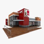 KFC Big Restaurant 3d model