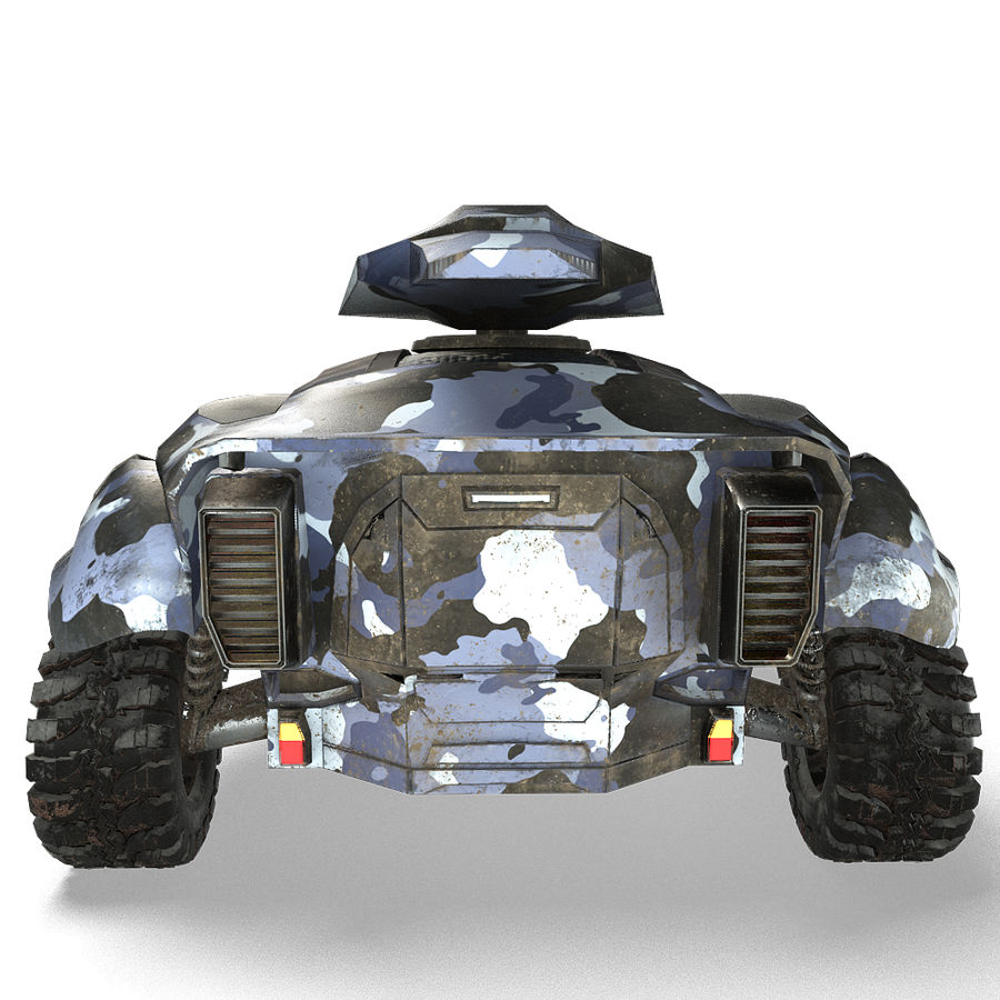 Futuristic Vehicle royalty-free 3d model - Preview no. 6