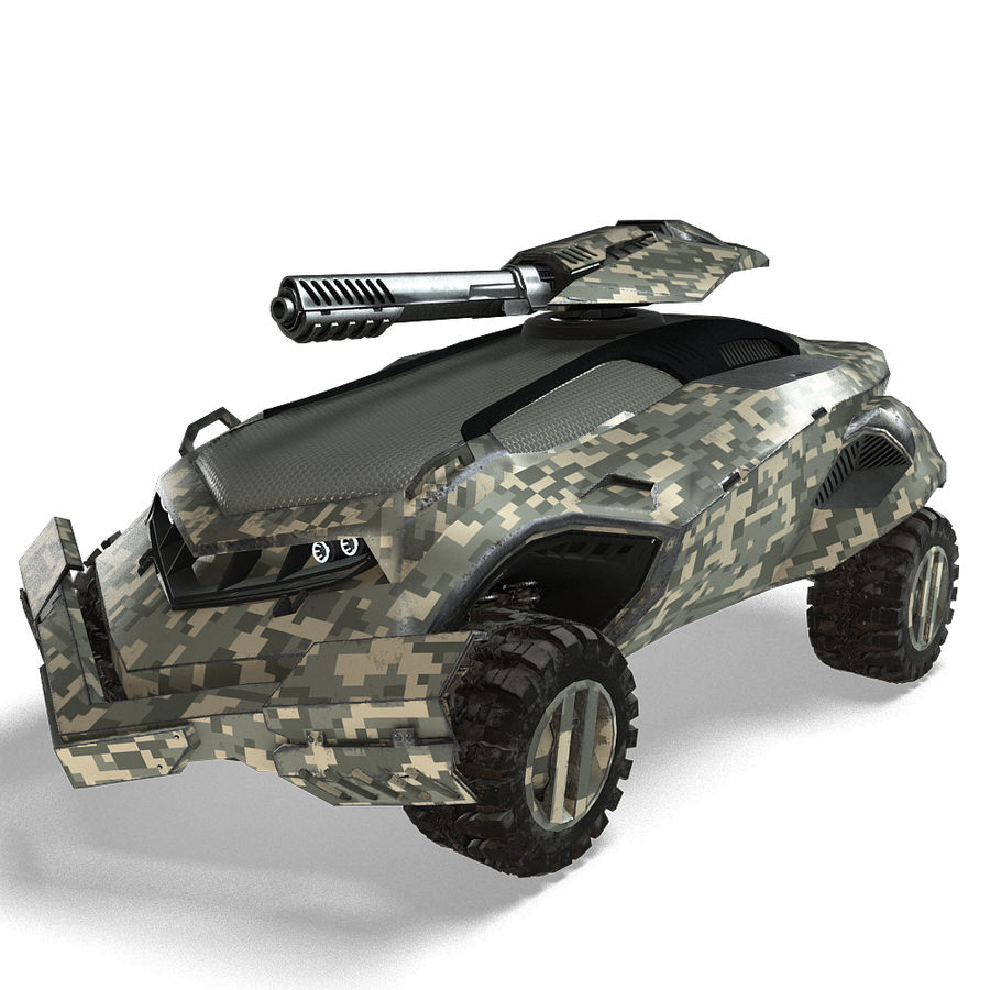 Futuristic Vehicle royalty-free 3d model - Preview no. 17
