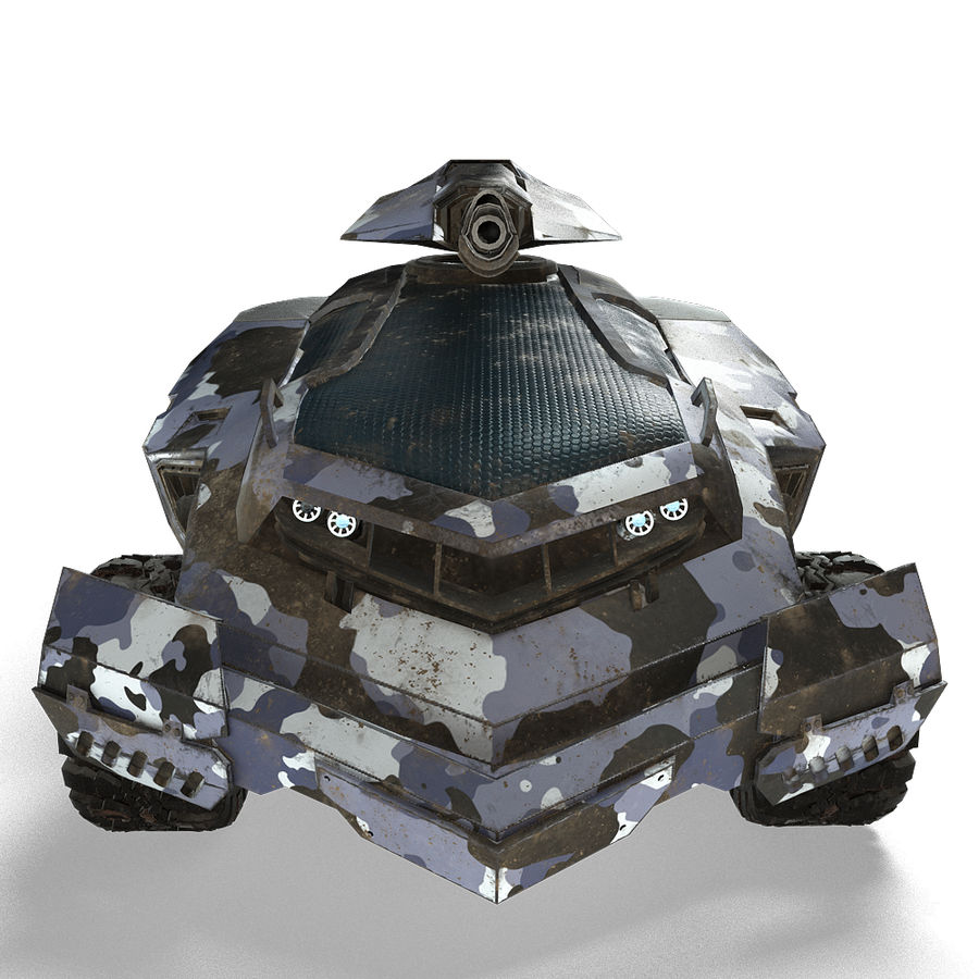 Futuristic Vehicle royalty-free 3d model - Preview no. 5