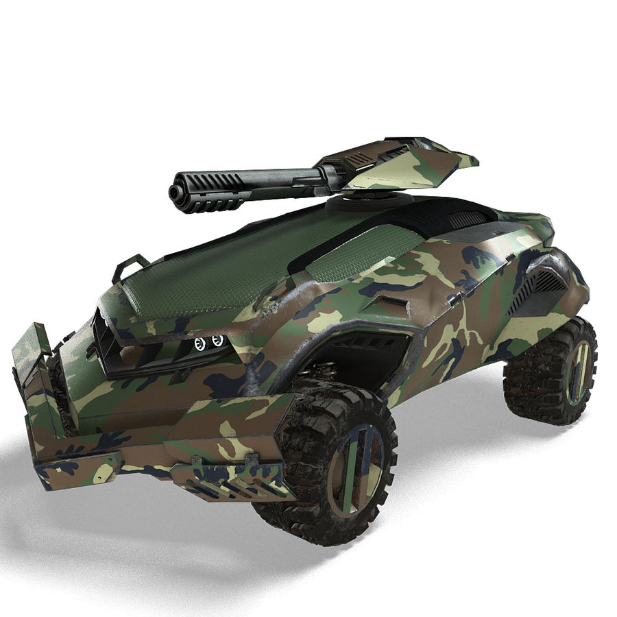 Futuristic Vehicle royalty-free 3d model - Preview no. 19