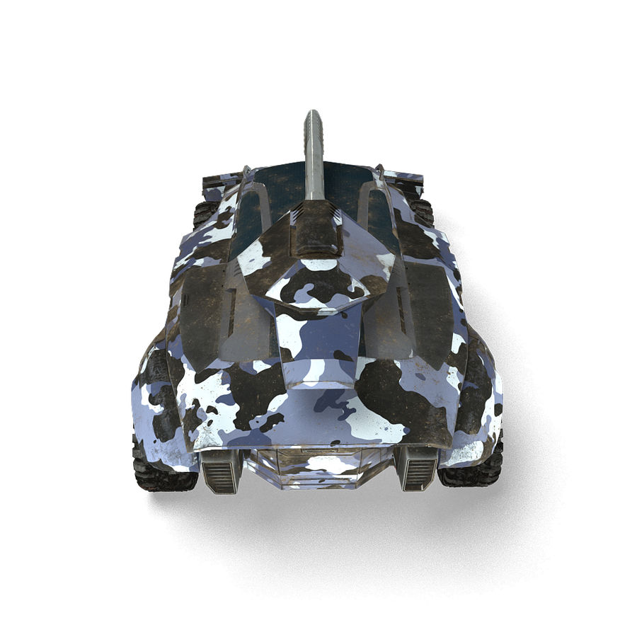 Futuristic Vehicle royalty-free 3d model - Preview no. 9