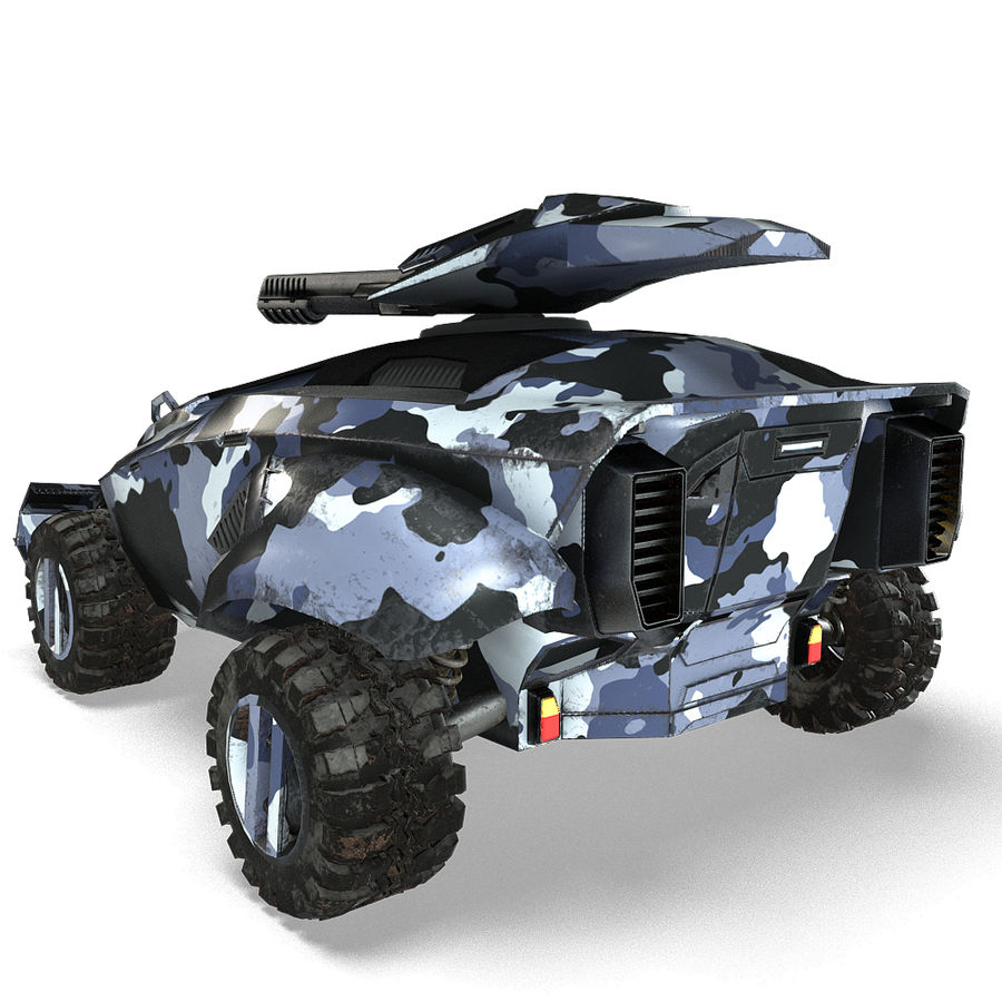 Futuristic Vehicle royalty-free 3d model - Preview no. 22