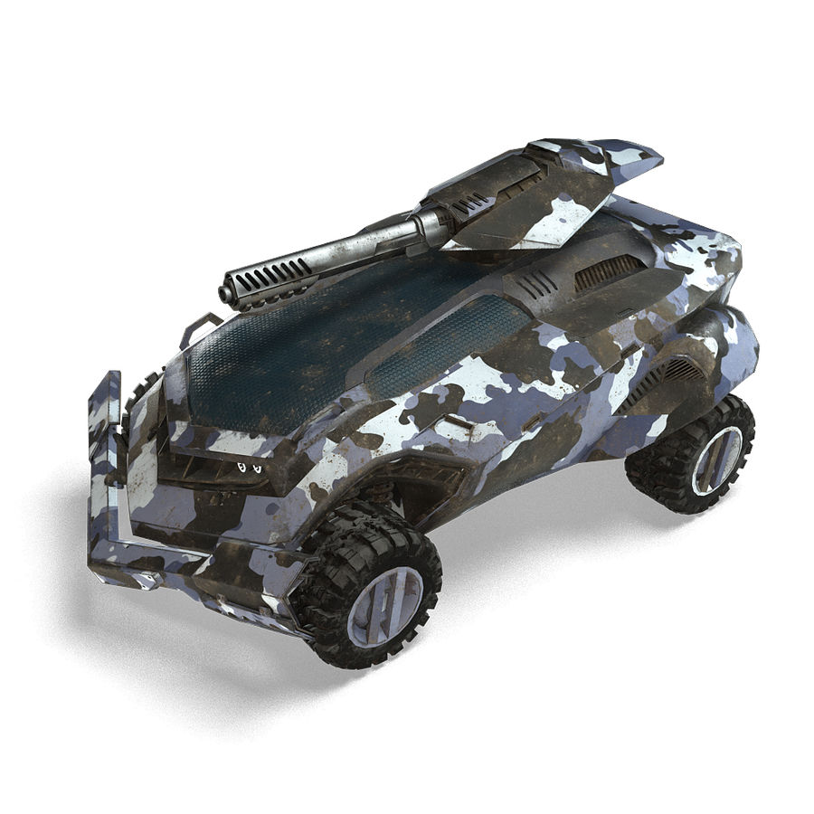 Futuristic Vehicle royalty-free 3d model - Preview no. 8