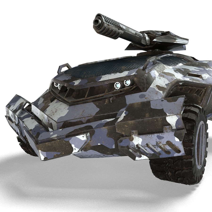 Futuristic Vehicle royalty-free 3d model - Preview no. 11