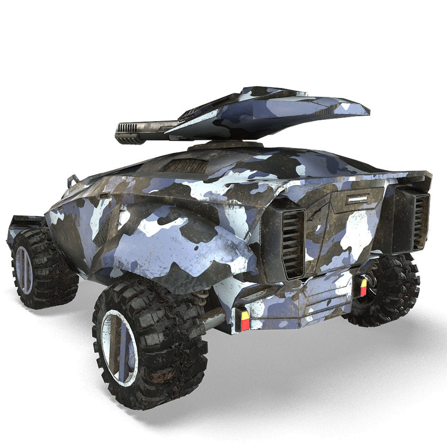 Futuristic Vehicle royalty-free 3d model - Preview no. 4