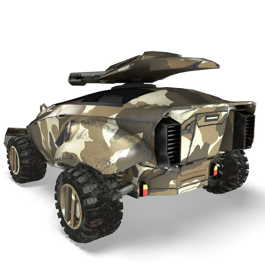 Futuristic Vehicle royalty-free 3d model - Preview no. 24