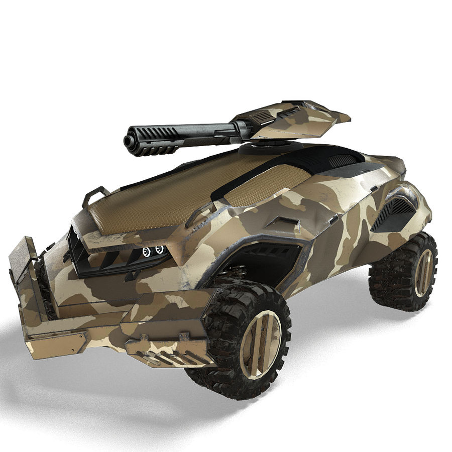Futuristic Vehicle royalty-free 3d model - Preview no. 23