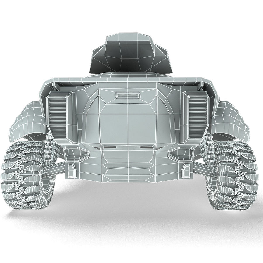 Futuristic Vehicle royalty-free 3d model - Preview no. 15