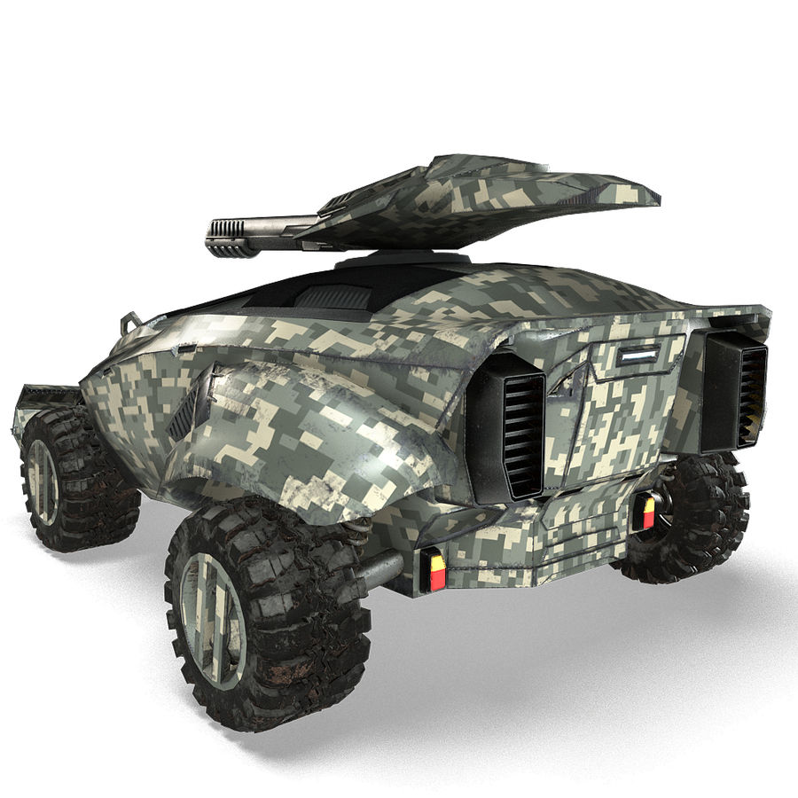 Futuristic Vehicle royalty-free 3d model - Preview no. 18